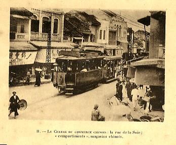 Tàu điện tại phố Hàng Đào, Hà Nội - Tư liệu TTLTQG1